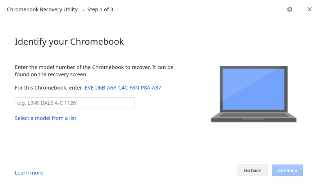 Chromebook recovery software
