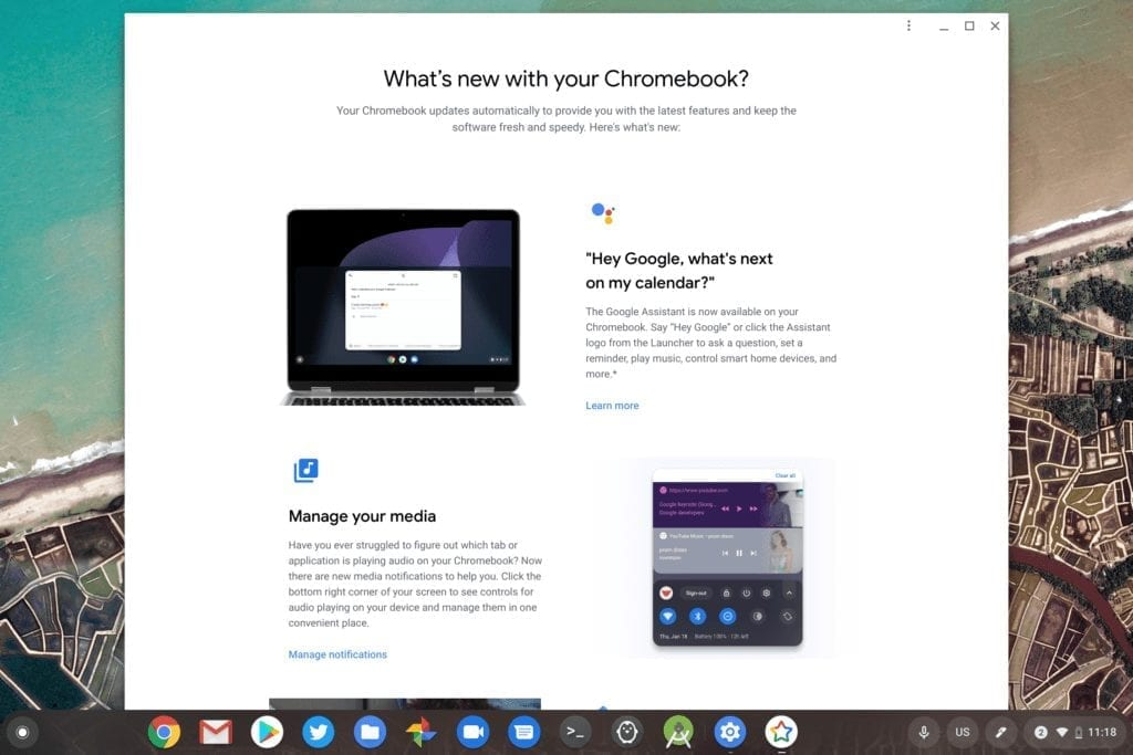 Chrome OS release notes