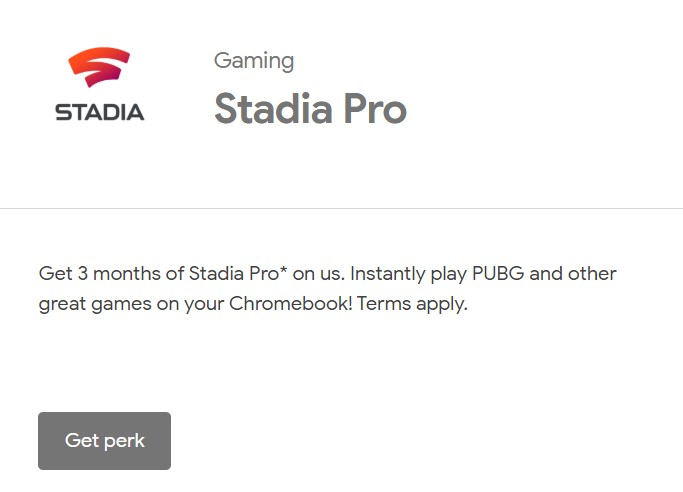Bought a Chromebook released after July 2017? You've got Stadia Pro free for three months - About Chromebooks