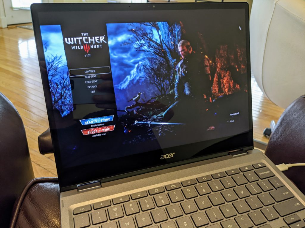 Witcher 3 on Chromebook