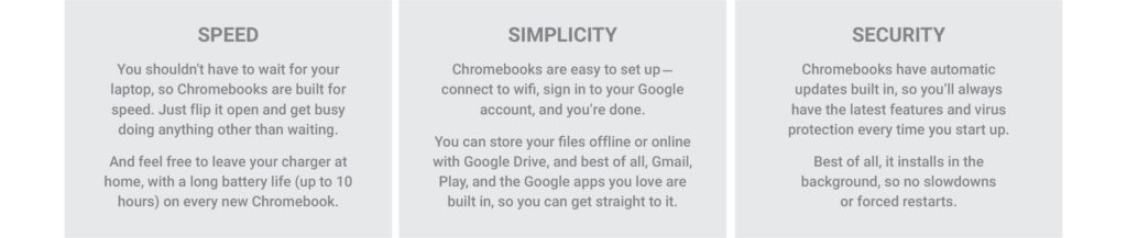 Chromebooks: Speed simplicity and security