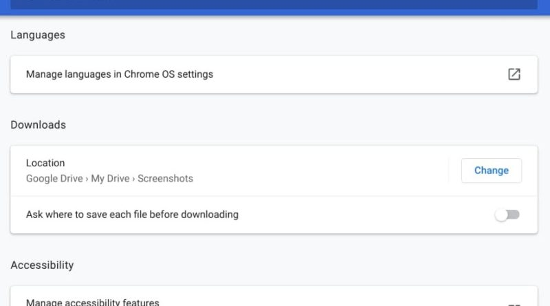 Change the Downloads folder on Chromebook
