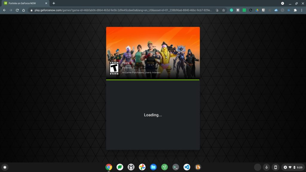 Fortnite loads faster on Chomebooks using GeForce Now pre-loading