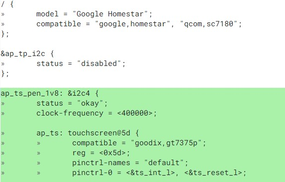 Homestar Chromebook CPU and touch panel