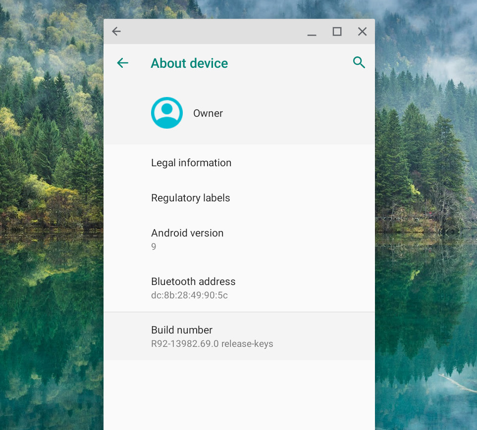 About Android device on Chromebook